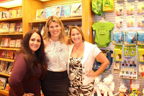 (L to R) Gina Almonte, Owner of Refresh-a-Baby; Carren Rieger, Founder of BambinOz ; and Kerriann Greenhalgh, Founder, Chairman and CEO of KeriCure   Their products are carried by Mindworks and its newsstand store, Stellar News,  in Orlando, Washington Dulles, Philadelphia, San Diego, Tampa, Miami, and Houston.