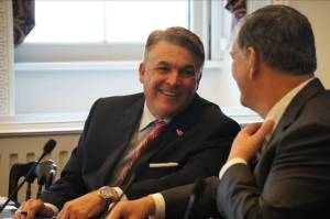 Port Tampa Bay President/CEO Paul Anderson talks trade and policy with U.S. Trade Rep. Michael Froman, in Washington D.C.