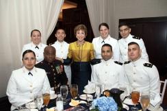 USF NROTC w Genshaft