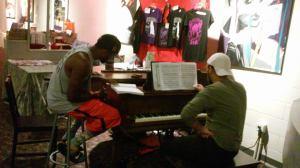 Ain't M at piano